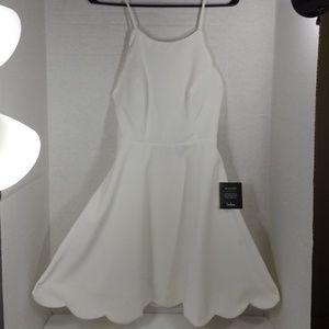 NWT Lulu's Play On Curves Ivory Backless Dress S